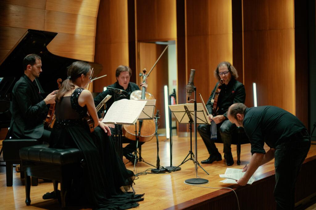 Aufnahmen mit dem Weinberg Quartet © Daniel Dittus
